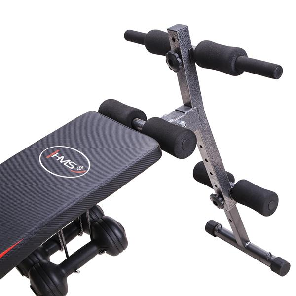 L8355 INCLINE BENCH WITH DUMBBELLS AND ROPES HMS
