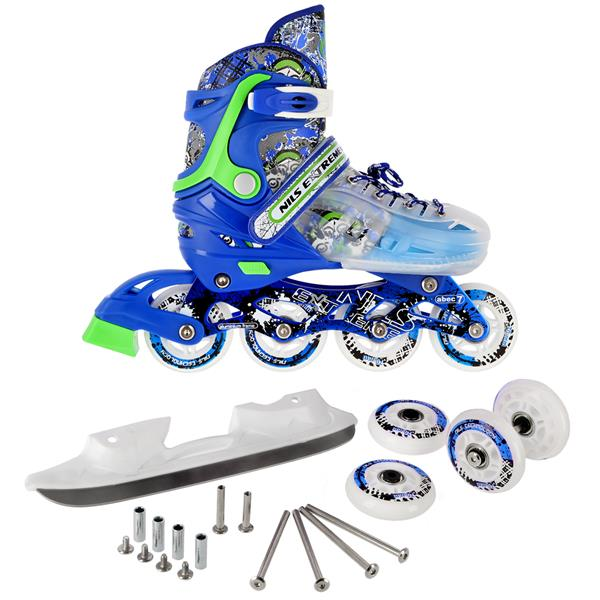 NH18122 4in1 BLUE SIZE M(34-38) INLINE/ICE-SKATES..