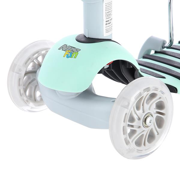 HLB07 4in1 GRAY-MINT SCOOTER NILS FUN