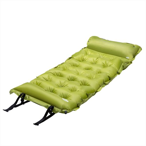 NC4018 GREEN SELF-INFLATING MAT WITH A PILLOW NIL..