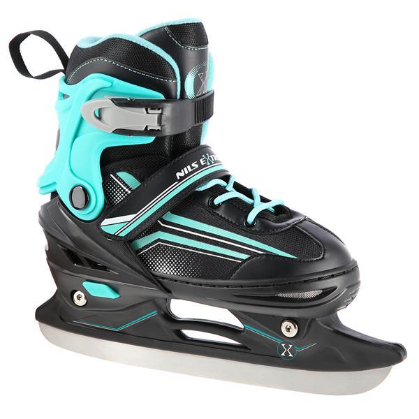 NH18190 2IN1 BLACK/BLUE SIZE S(29-33) IN-LINE SKATES/HOCKEY ICE SKATES