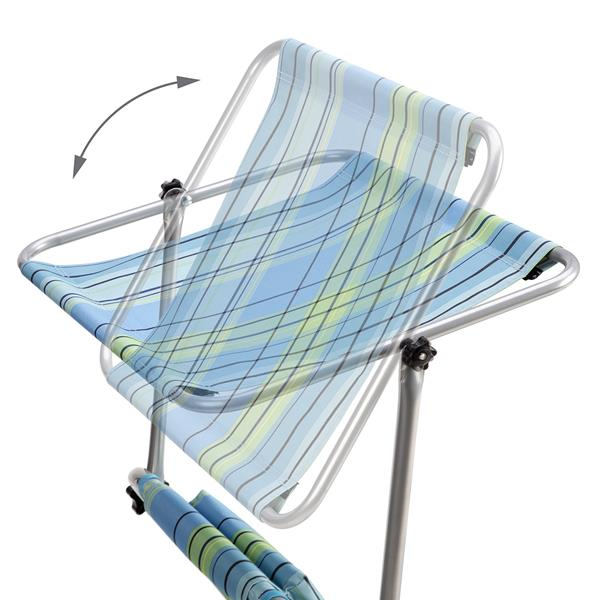 NC3330 BLUE SUN LOUNGER WITH SHADE NILS CAMP