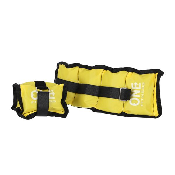 WW02 PILLOW WEIGHTS 2 x 1.5 KG ONE FITNESS (yello..