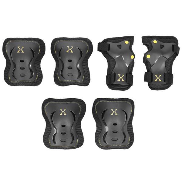 H320 SIZE XL BLACK-YELLOW PROTECTORS SET NILS EXT..