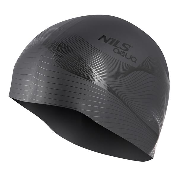 G-TYPE MEN F209 BLACK SWIMMING CAP NILS AQUA